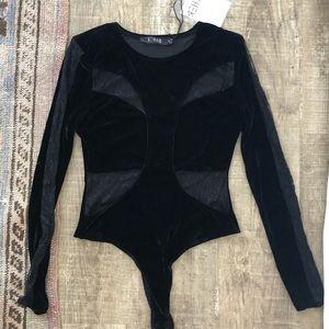 Nasty Gal velvet and lace bodysuit